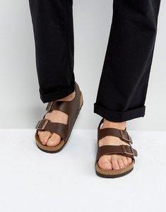 Read more about Birkenstock milano sandals in dark brown - brown