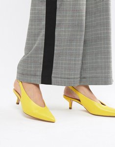 Read more about Coco wren pointed kitten heels - yellow