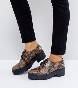 Read more about Monki snake brogue - snake print