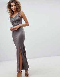 Read more about Ax patis a line maxi dress with embellished detail - dark grey