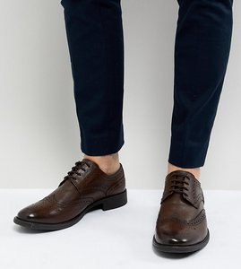 Read more about Frank wright wide fit brogues in brown leather - brown