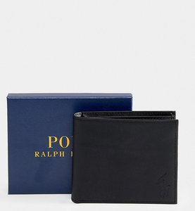 691b053503a53b Read more about Polo ralph lauren classic leather billfold wallet in black  exclusive at asos