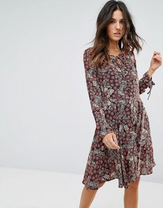 Read more about Brave soul tie neck floral dress - black red
