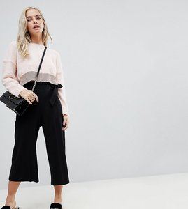 Read more about Miss selfridge petite frill top trouser - black