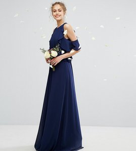 Read more about Tfnc wedding frill detail maxi dress - navy