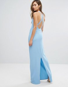 Read more about Club l lace back detail maxi dress - skyway