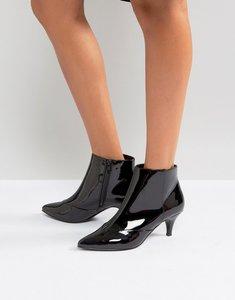 Read more about Miss selfridge kitten heel ankle boot - black