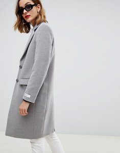 Read more about Gianni feraud slim tailored coat with contrast collar - grey