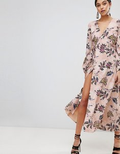 Read more about The jetset diaries fluid wrap midi dress - pink floral