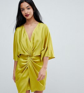 Read more about Asos petite kimono twist front mini dress