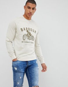 Read more about Barbour international burn crew neck sweat in off white - cream