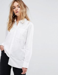 Read more about Cheap monday white shirt with pleated back - white