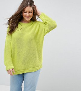 Read more about Asos curve oversized chunky jumper - lime