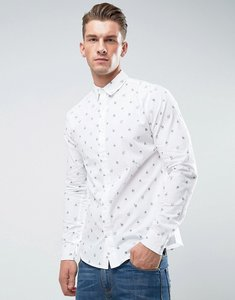 Read more about Only sons shirt in slim fit with all over print - white