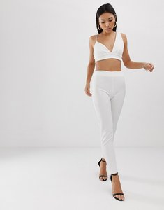 Read more about Club l london cigarette trouser co-ord in white