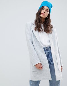 Read more about Asos design slim coat in texture - grey