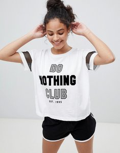 Read more about New look do nothing club short pyjama set - black