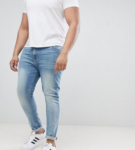 Read more about Asos plus super skinny jeans in light wash - light wash blue