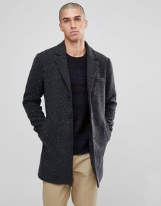 Read more about Only sons salt and pepper overcoat - dark grey melange