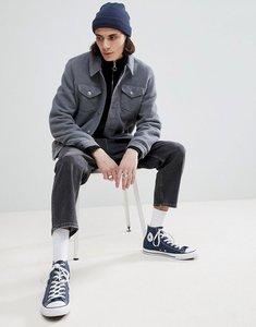 Read more about Asos design fleece western jacket in grey - grey