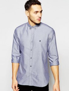 Read more about French connection long sleeve oxford shirt - navy