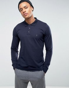 Read more about French connection long sleeve polo shirt - navy