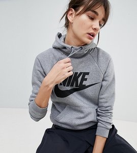 Read more about Nike rally logo hoodie in grey - grey