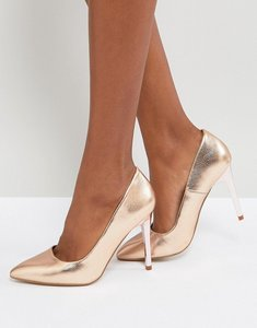 Read more about New look pointed court shoe - gold
