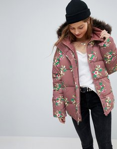 Read more about Asos puffer coat in floral print - multi