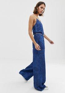 Read more about Pepe jeans flyer retro denim jumpsuit - light blue