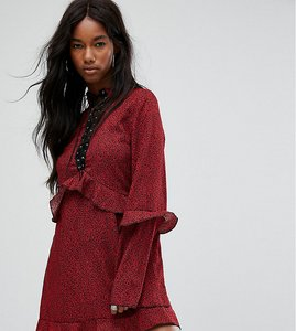Read more about Milk it vintage lace up dress - blk w red floral