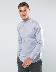 Read more about Selected homme slim fit grandad shirt - bright white db