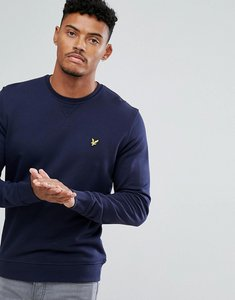 Read more about Lyle scott crew neck sweatshirt eagle logo in navy - navy