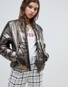 Read more about Jdy metallic padded jacket - silver