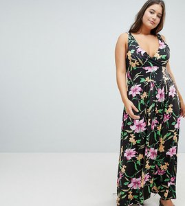 Read more about Praslin wrap front maxi dress in tropical print