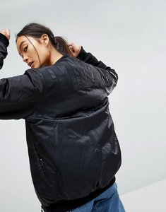 Read more about Adidas short bomber jacket - black