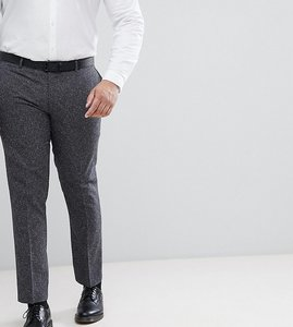 Read more about Farah plus skinny suit trousers in fleck - grey