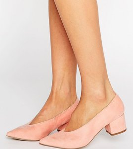 Read more about Asos swipe pointed heels - apricot
