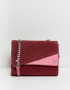 Read more about Asos design suede colour block shoulder bag - multi