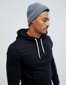 92b19d957 Read more about Asos design fisherman beanie in grey recycled polyester -  grey