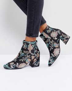 Read more about Asos reach up ankle boots - jacquard