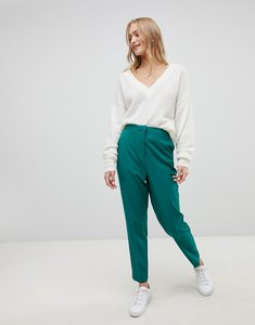 Read more about Asos design cigarette trouser in pop green