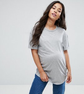 Read more about New look maternity relaxed boyfriend t-shirt - grey