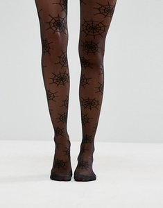 Read more about Asos halloween cob web tights - black