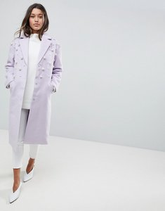 Read more about Asos pearl soft coat - lilac