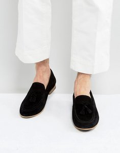 Read more about Kg by kurt geiger denton tassel loafers in black suede - black