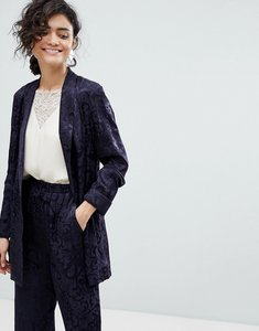 Read more about Asos soft jacquard blazer - navy