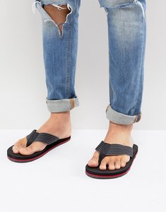 Read more about Aldo ybalia flip flops in stripe black - black