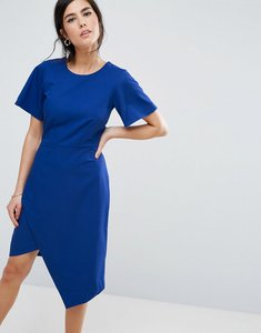 Read more about Closet london pencil dress with split detail - blue