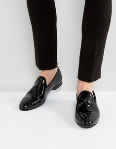 Read more about House of hounds arthur patent loafers in black - black